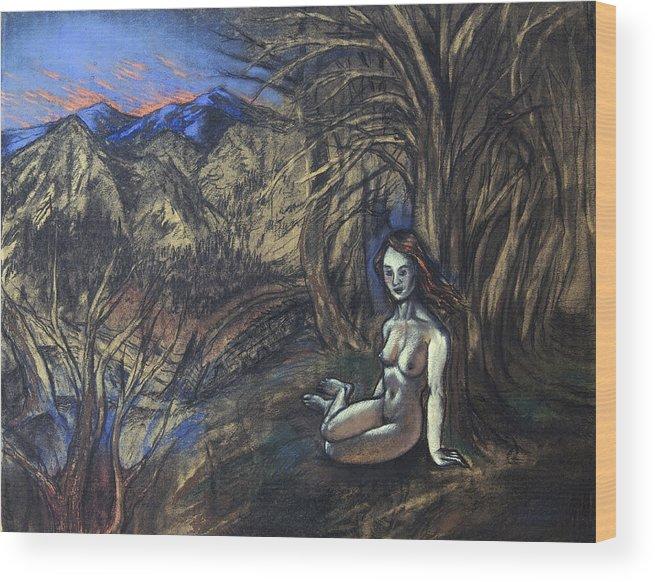 Woman Wood Print featuring the painting Ninfa by Fernando Alvarez