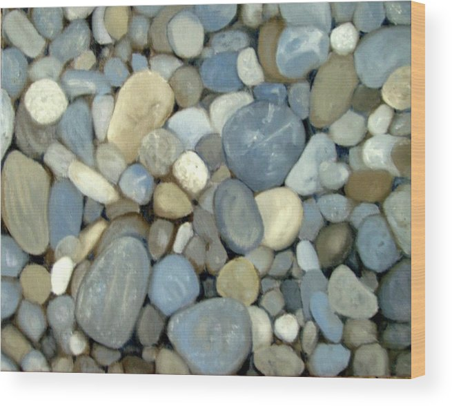 Pebbles Wood Print featuring the painting Southern Pebbles by Graham Keith