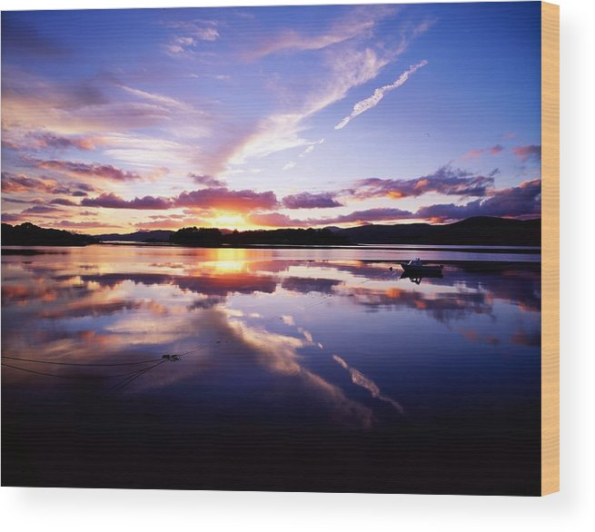 Bay Wood Print featuring the photograph Sunset, Dinish Island Kenmare Bay by The Irish Image Collection