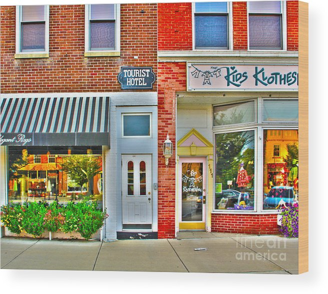 Tourist Hotel Wood Print featuring the photograph Tourist Hotel-downtown Perrysburg by Jack Schultz