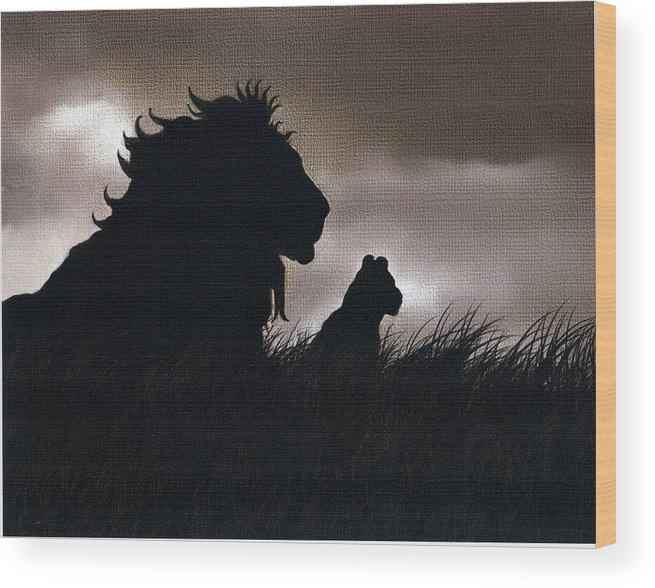 Like Father Like Son Wood Print By Robert Foster