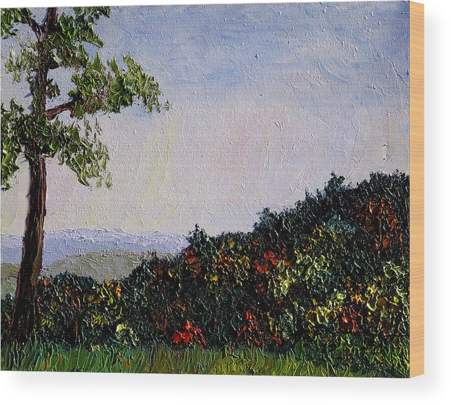 Plein Air Wood Print featuring the painting Bcsp 12 by Stan Hamilton
