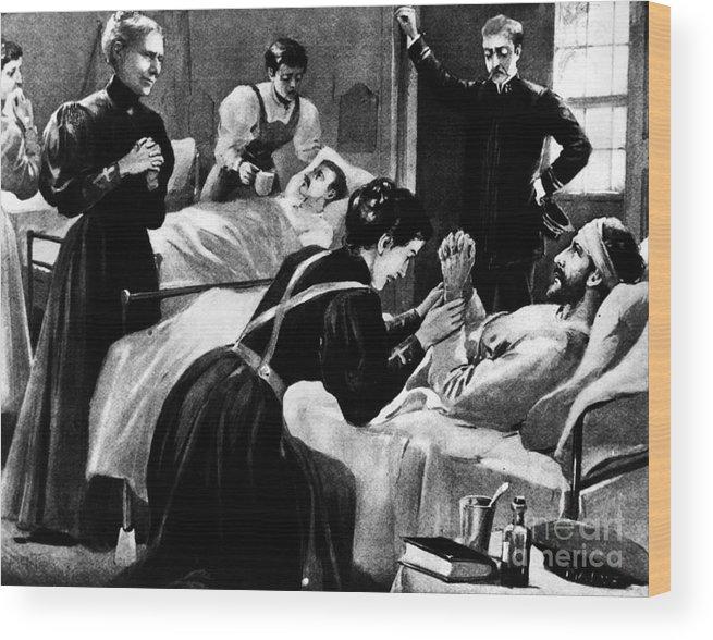 1898 Wood Print featuring the photograph Clara Barton (1821-1912) by Granger