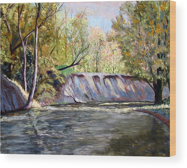 Creek Bank Wood Print featuring the painting Creek Bank by Stan Hamilton