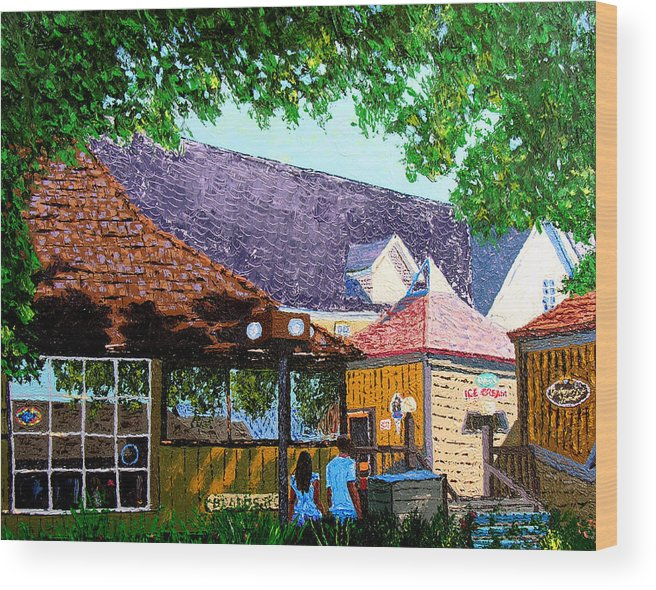 Knife Painting Wood Print featuring the painting Nashville 3 06 by Stan Hamilton