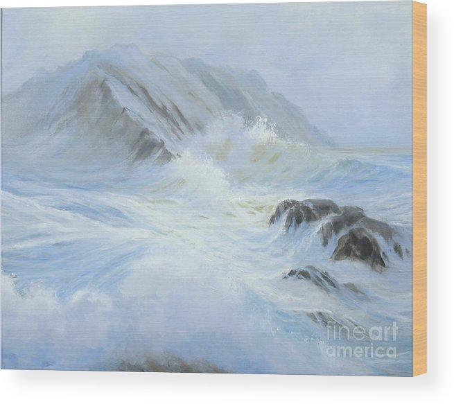 Seascape Wood Print featuring the painting Quiet Moment II by Glenn Secrest