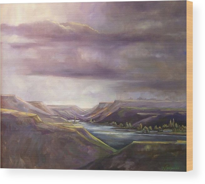 Lansdcape Wood Print featuring the painting Vantage Vista by Ruth Stromswold