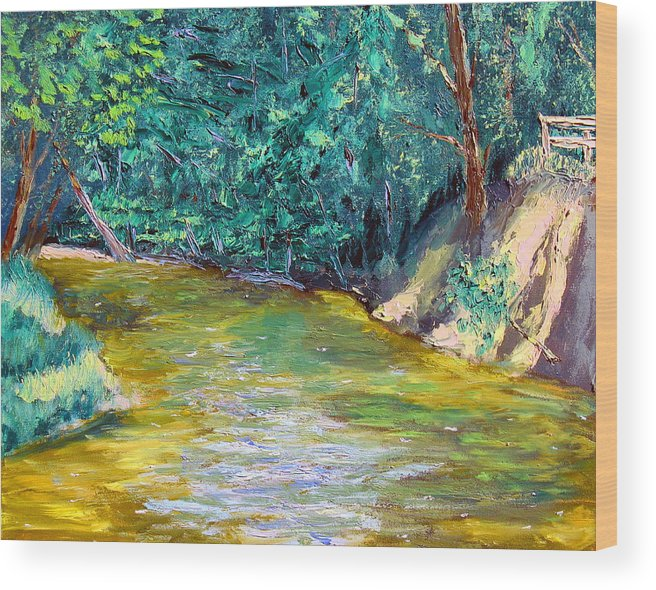 Plein Air Wood Print featuring the painting Sewp 5 24 by Stan Hamilton