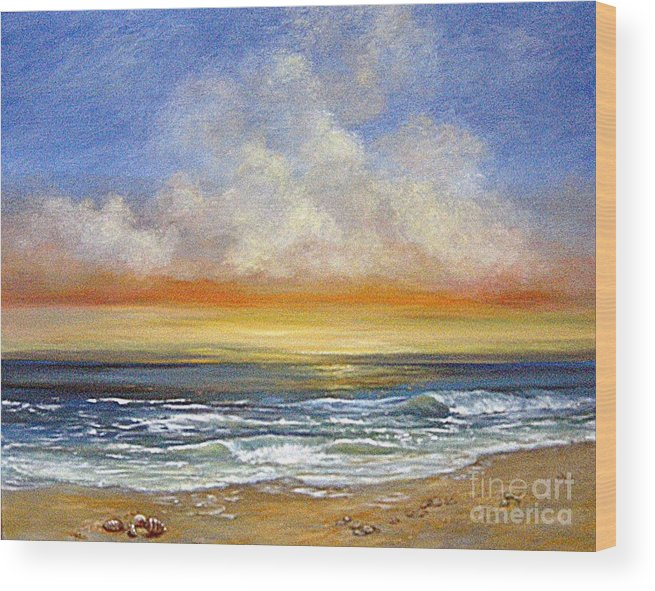 Seascape Wood Print featuring the painting A Day To Remember Sold by Jeannette Ulrich