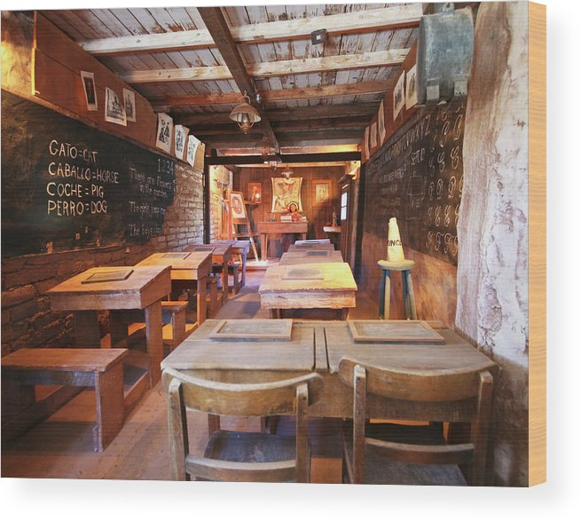 Old Wood Print featuring the photograph A One Room Schoolhouse Of Old Tucson, Tucson, Arizona by Derrick Neill