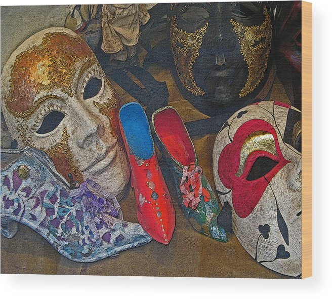 Venice Wood Print featuring the photograph After Carnival by Sonia Melnikova-Raich