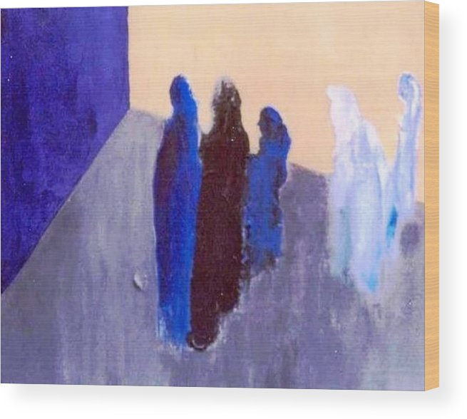 Blue Wood Print featuring the painting All We Are Saying. . . by Bruce Combs - REACH BEYOND