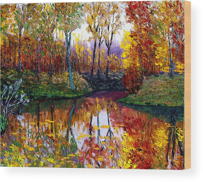 Lake Wood Print featuring the painting Avon by Stan Hamilton