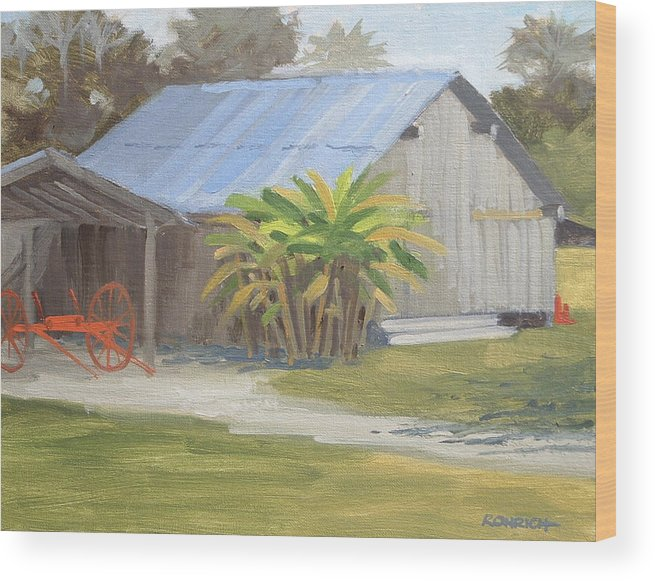 Barn Wood Print featuring the painting Barberville Barn by Robert Rohrich