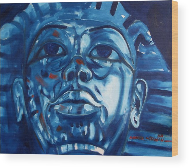 King Tut Wood Print featuring the painting Blue Boy by Howard Stroman