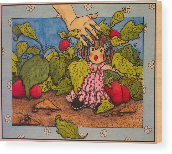 Children Wood Print featuring the painting Book Illustration by Victoria Heryet