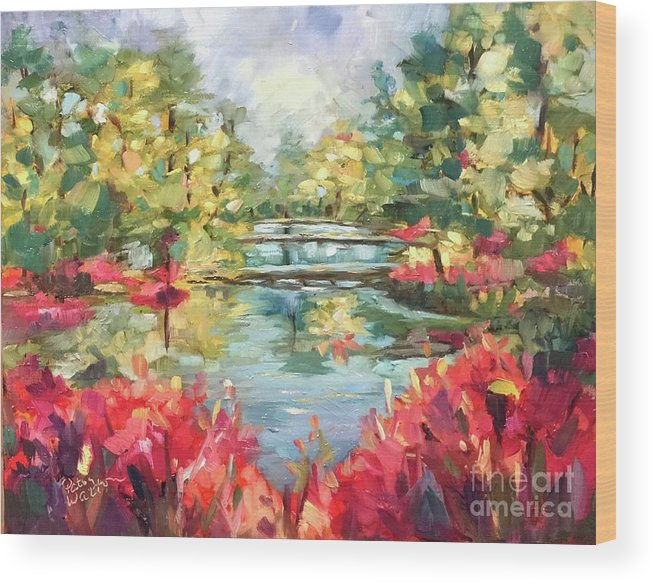 Callaway Gardens Wood Print featuring the painting Callaway Gardens by Patsy Walton