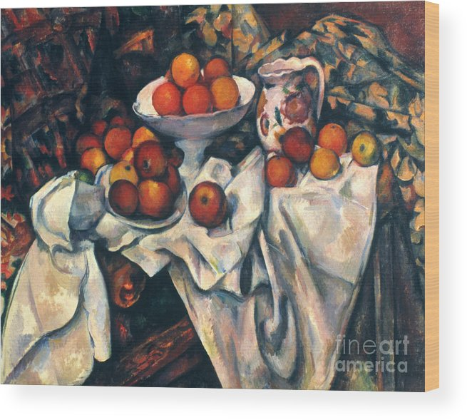 1890s Wood Print featuring the photograph Cezanne: Still Life, C1899 by Granger
