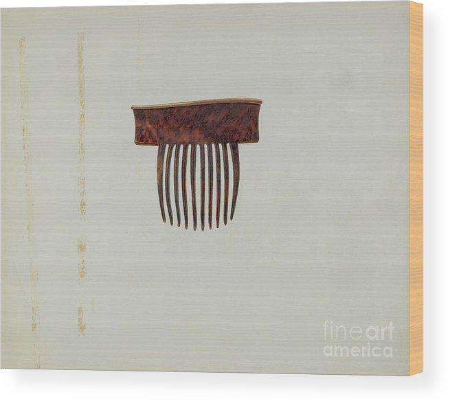 Wood Print featuring the drawing Comb by Irene Lawson