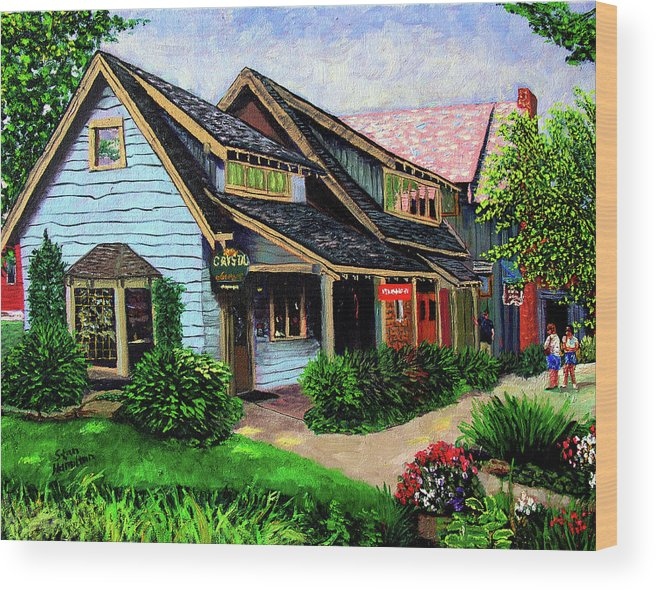 Shop Wood Print featuring the painting Crystal Source Daily Grind by Stan Hamilton