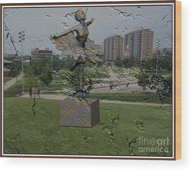 Modern Painting Wood Print featuring the digital art Dancing Girl 606 by Pemaro