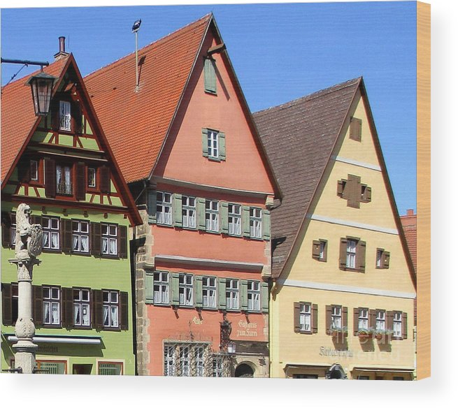 Dinkelsbuhl Wood Print featuring the photograph Dinkelsbuhl 22 by Randall Weidner