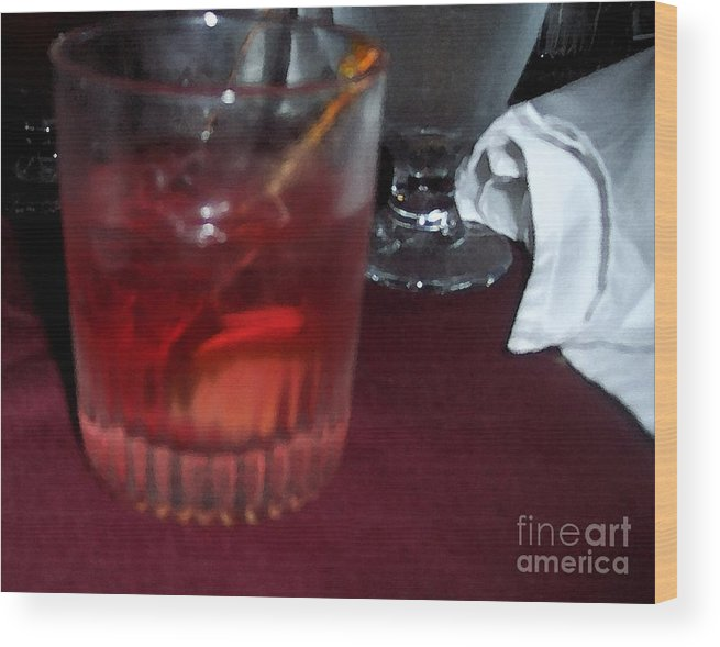Drinks Wood Print featuring the photograph Drink Up by Debbi Granruth