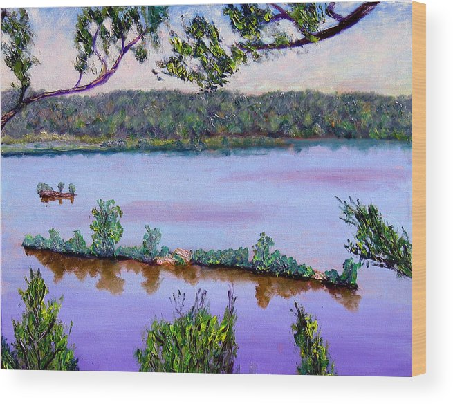 Original Oil On Canvas Wood Print featuring the painting Ecp 6-1 by Stan Hamilton