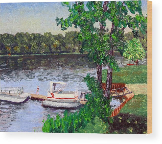 Original Oil On Canvas Wood Print featuring the painting Ecsp 8-24 by Stan Hamilton