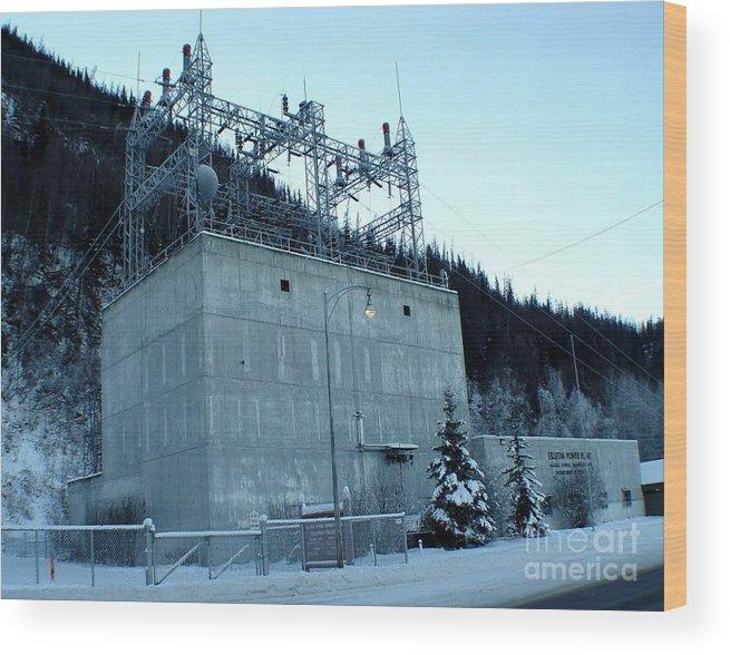 Landscape Wood Print featuring the photograph Eklutna Electric Blue by Ron Bissett
