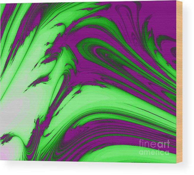 Purple Wood Print featuring the digital art Feather by Vicki Lynn Sodora