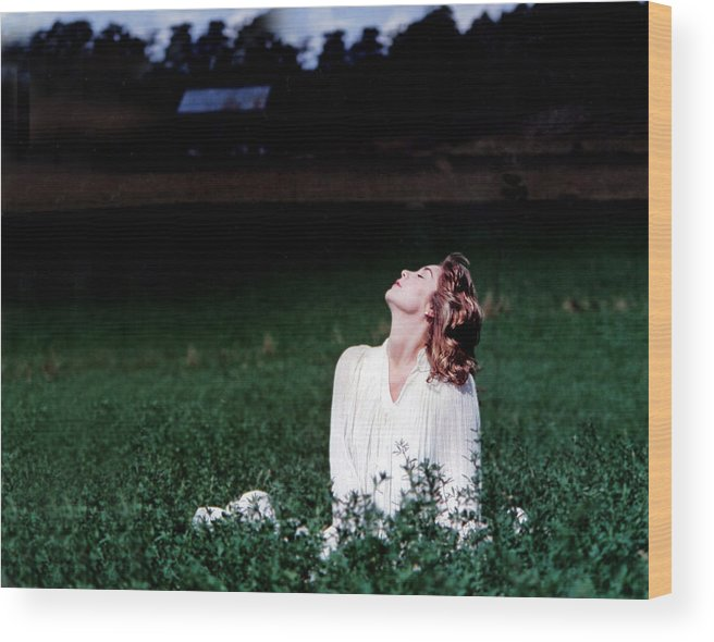 Woman Wood Print featuring the photograph Field Of Dreams by D'Arcy Evans