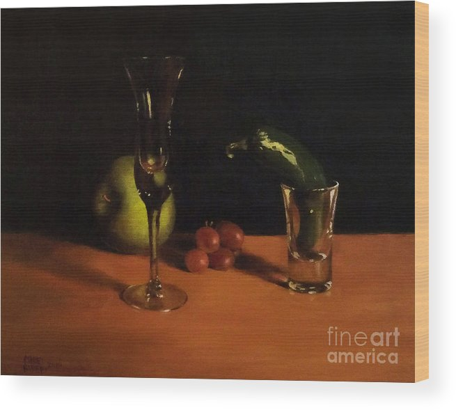 Oil Wood Print featuring the painting Fresh Start by Mike Rider