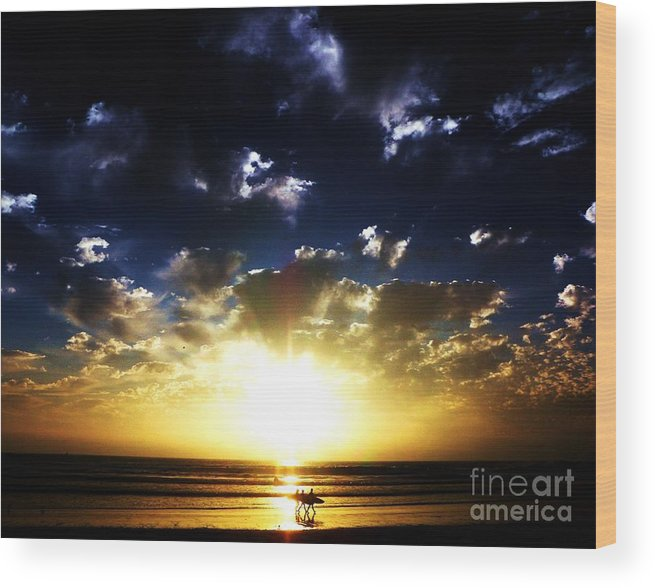 Sunsets Wood Print featuring the photograph Glory by Daniele Smith