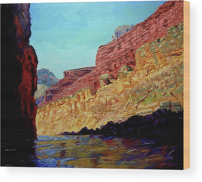 Original Oil On Canvas Wood Print featuring the painting Grand Canyon IIi by Stan Hamilton