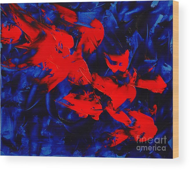 Abstract Wood Print featuring the painting Grandma II by Dean Triolo