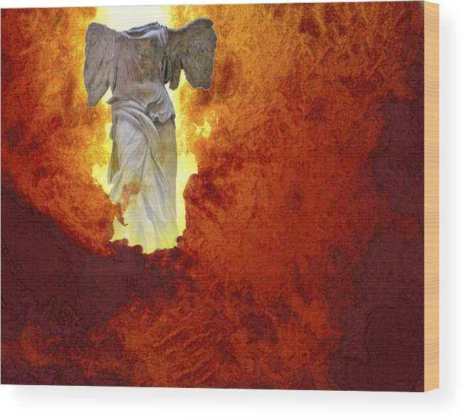 Painting Wood Print featuring the painting Hope by Ann Tracy