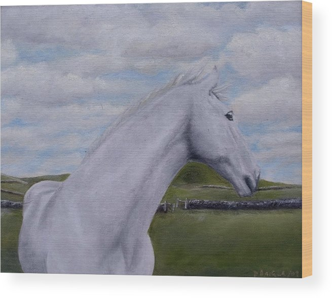 Horse Wood Print featuring the painting Horse by Diane Daigle