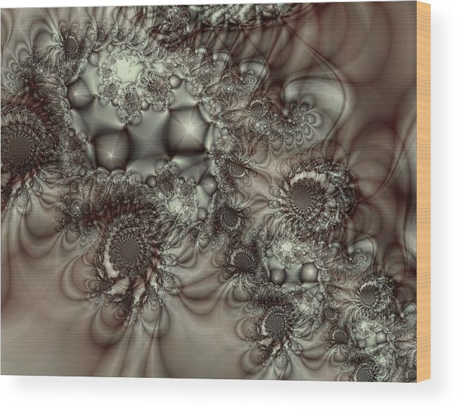 Green Wood Print featuring the digital art Hot Chocolate Possibilities by Casey Kotas