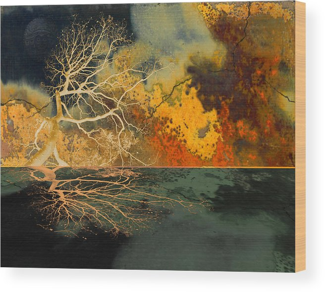 Forest Wood Print featuring the photograph Hotzone by Jeff Burgess