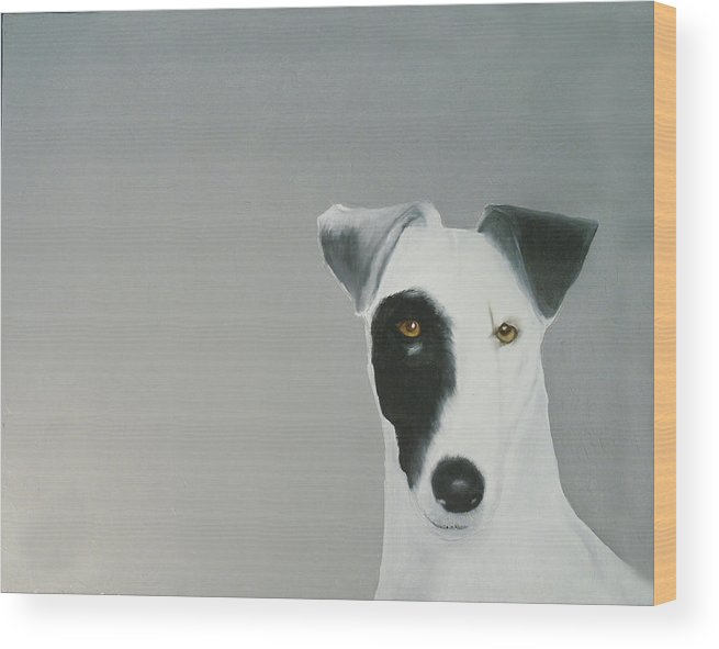 Wood Print featuring the painting Jack Russell by Dick Larsen
