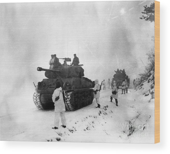 1951 Wood Print featuring the photograph Korean War: Allied Forces by Granger