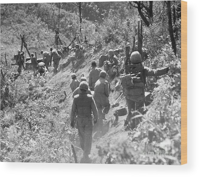1952 Wood Print featuring the photograph Korean War: Triangle Hill by Granger