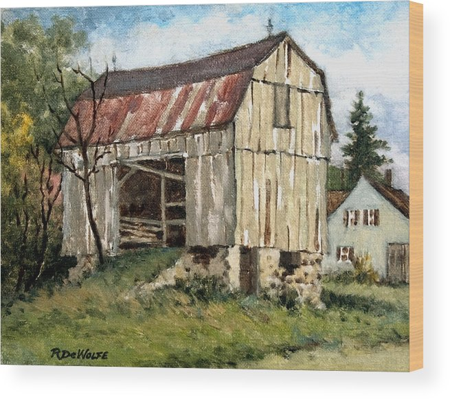 Barn Wood Print featuring the painting Last Legs by Richard De Wolfe