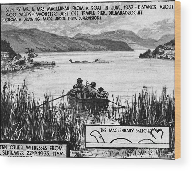 1933 Wood Print featuring the photograph Loch Ness Monster, 1934 by Granger