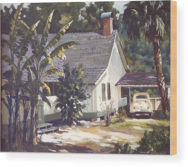 House Wood Print featuring the painting M. K. Rawlings House by Marion Hylton