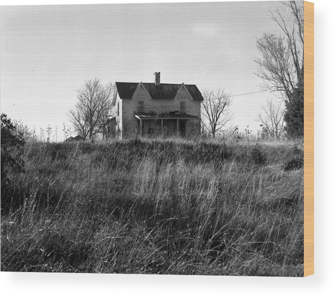 Landscape Wood Print featuring the photograph Madison County Farm House by George Ferrell