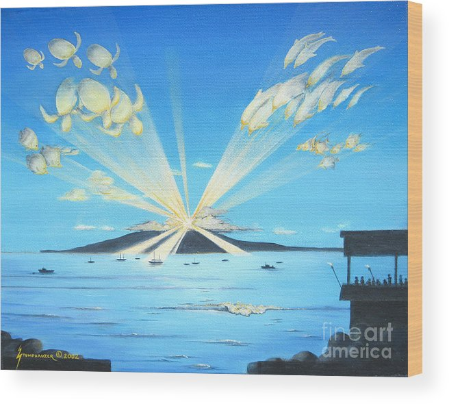 Maui Wood Print featuring the painting Maui Magic by Jerome Stumphauzer