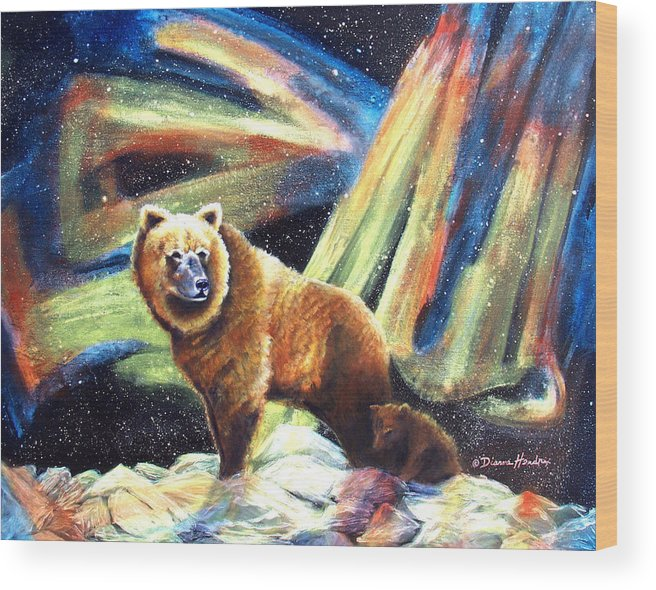 Alaska Wood Print featuring the painting Mischief's Mother by Dianne Roberson