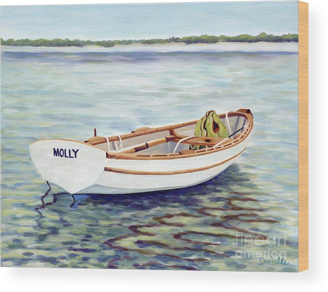 Molly Wood Print featuring the painting Molly by Danielle Perry